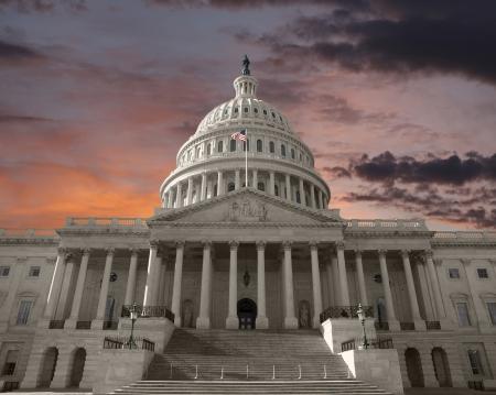 Dageraad hemel boven de Verenigde Staten Capitool in Washington DC Stockfoto - 19806508