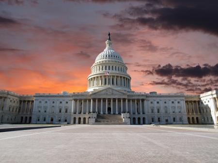 워싱턴 DC에있는 미국 국회 의사당 건물입니다.