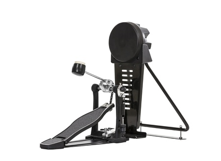 bass drum: Electronic bass drum pedal isolated with clipping path