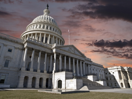 The US Capitol with sunrise sky Stock Photo - 20366269