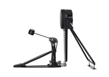 drum and bass: Electric bass drum pedal isolated with clipping path.