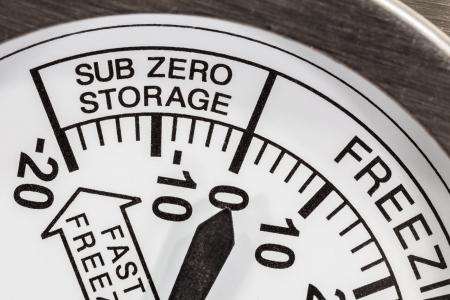 Sub zero opslag koelkast thermometer macro detail Stockfoto - 20420068