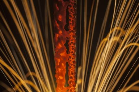 Sparkling sparkler extreme macro detail. Stock Photo - 20625182