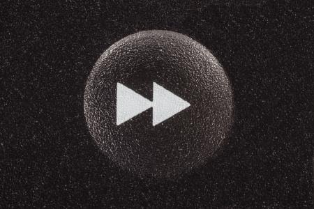 rewind icon: Fast forward remote control button.