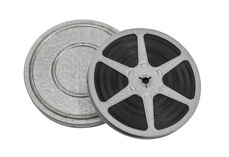 Vintage film reel and can isolated with clipping path  Stock Photo - 21892542