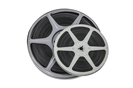 Vintage 8mm film reels isolated with clipping path  Stock Photo - 21892541