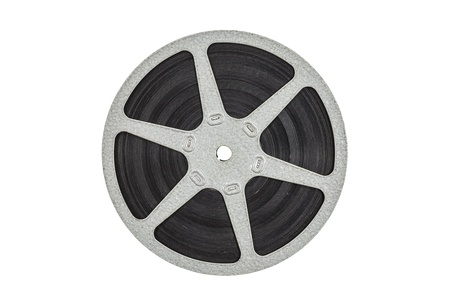 Old metal film reel isolated with clipping path  Stock Photo - 21892562