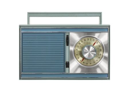 Vintage portable radio isolated with clipping path. Stock Photo - 21893579