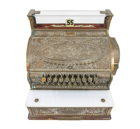 Vintage cash register isolated on white Stock Photo - 22023343