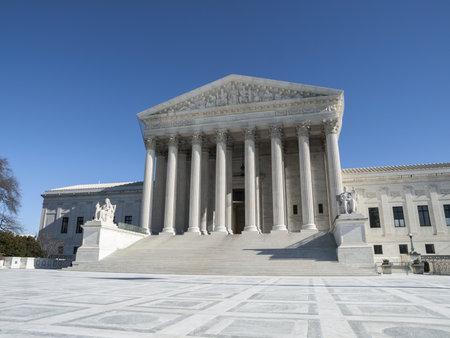 Supreme court building exterior in Washington DC, USA  Stock Photo - 21900587