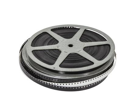 Vintage home movie film reel and can. Standard-Bild