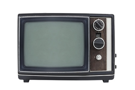 Small vintage portable television Stock Photo - 22137810