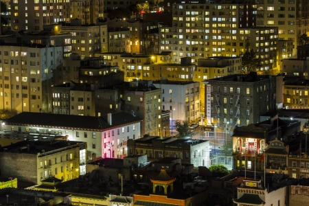 Editorial night view of San Francisco's historic Chinatwon district. Stock Photo - 22054053