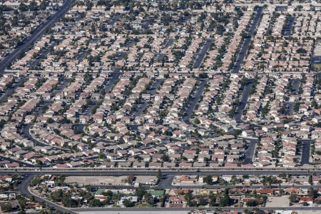 Sprawling housing developments in the sunny Las Vegas Valley.   photo
