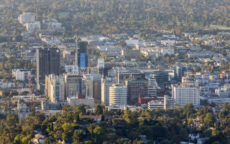 view of Hollywood California architecture in early morning light. Stock Photo - 23343168