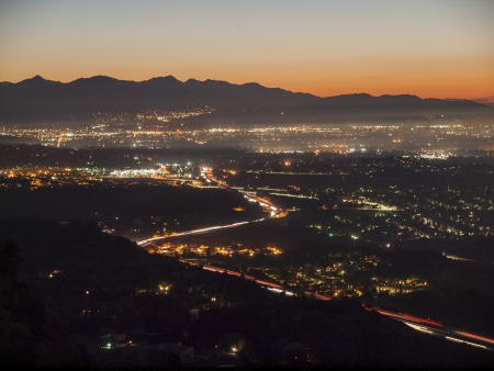 north hollywood: Early morning view of the San Fernando Valley in the City of Los Angeles