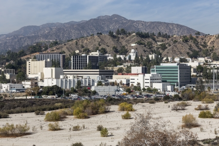 LA CANADA FLINTRIDGE, CALIFORNIA - January 8, 2014:  View of the historic Jet Propulsion Laboratory in Southern California.