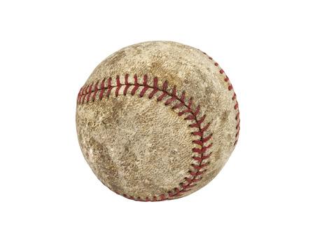 Oude versleten grungy honkbal geïsoleerd met clipping path. Stockfoto - 25016810