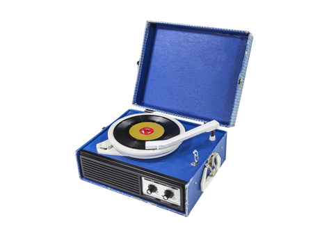 phonograph: Retro funky record player isolated