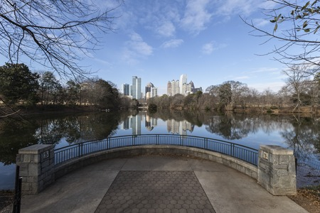 midtown: Midtown Atlanta cityscape from popular Piedmont Park.
