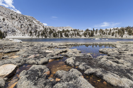 sierras: Cirque Lake in the back country wilderness of Californias Southern Sierras. Stock Photo