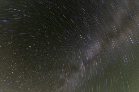 star path: North star rotation night sky.
