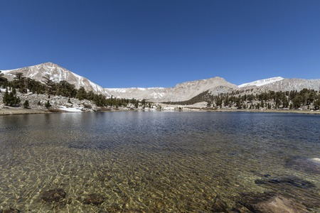 inyo national forest: South Fork Lake in Californias Cottonwood Lakes Basin Sierra Nevada Mountains Wilderness.