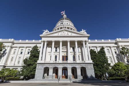 California State Capitol building in Sacramento, California.