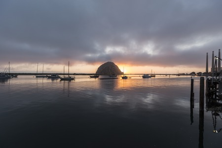 Sunset at Morro Bay on the central California coast