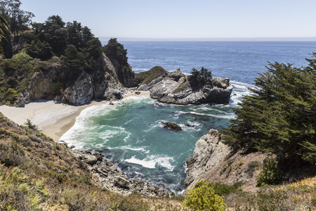 Peaceful cove at Julie Pfeiffer Burns State Park in Big Sur on the central California coast