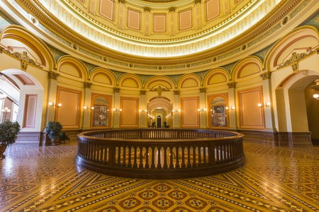 second floor: SACRAMENTO, CALIFORNIA - JULY 4, 2014   Second floor rotunda inside California