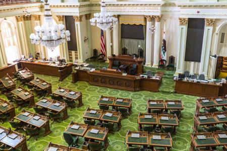 legislature: Sacramento, California, USA - July 4, 2014   The California state capitol legislature meeting room in Sacramento, California    Editorial