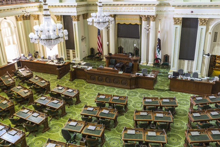 Sacramento, California, USA - July 4, 2014   The California state capitol legislature meeting room in Sacramento, California    新聞圖片