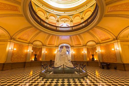 california state: California state capitol rotunda in Sacramento