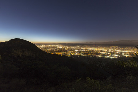 Night view of the San Fernando Valley in the City of Los Angeles