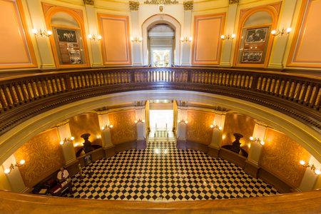 Sacramento, California, USA - July 4, 2014:  Stately rotunda inside California's historic state capitol building in Sacramento. Stock Photo - 30230159