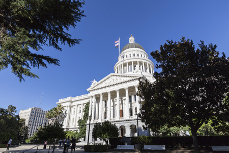 california state: Sacramento, California, USA - July 5, 2014:  The California State Capitol Building in Sacramento.