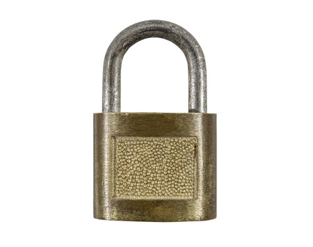 pad lock: Vintage pad lock isolated with clipping path.