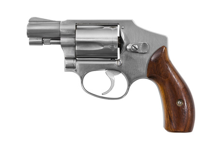 38: Five shot 38 caliber single action revolver handgun isolated with clipping path