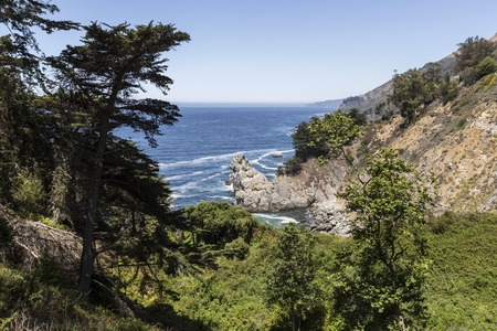 Big Sur coast in scenic central California. Stock Photo