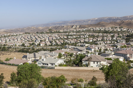 New homes in Simi Valley, a southern California suburb near Los Angeles.