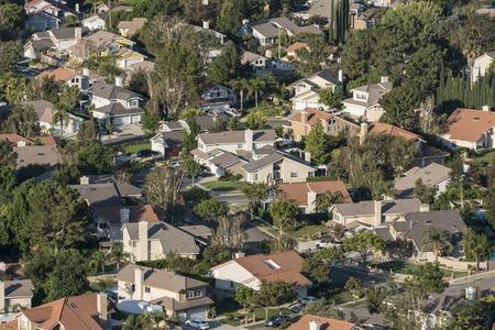 suburban neighborhood: Southern California suburban housing track in Ventura Countys Simi Valley.