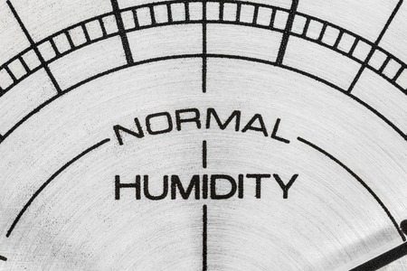 Humidity meter macro close up detail.