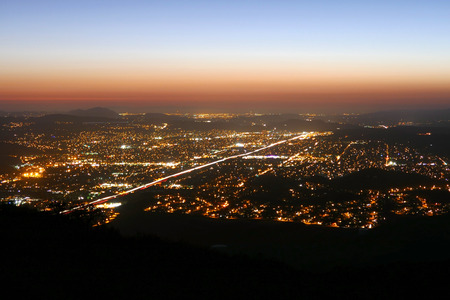los angeles county: Evening light at Simi Valley near Los Angeles in Southern, California.