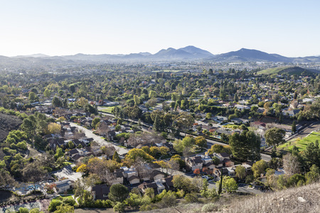 Bedroom community suburb of Thousand Oaks near Los Angeles, California. Stock Photo