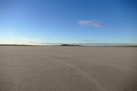 Late afternoon at El Mirage Dry Lake in California Stock Photo