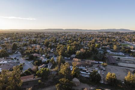 朝早くロサンゼルス チャッツワース周辺でストーニー ポイントからの眺め