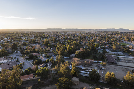 stoney point: Early morning view from Stoney Point in the Chatsworth area of Los Angeles