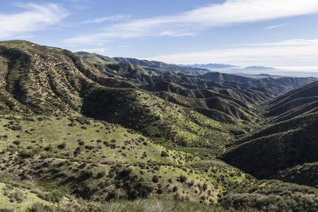 northridge: View towards Michael Antonovich Regional Park in Los Angeles, California. Stock Photo