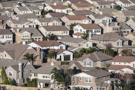 sprawl: Suburban housing track near Los Angeles, California.